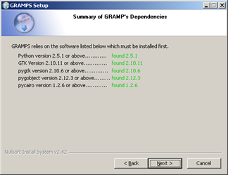 Gramps_Windows_Installer